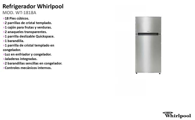 WHIRLPOOL WT-1818A